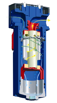 in-line water separator